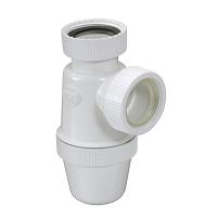 SIPHON LAVABO A ECROUS VERTI.D.32 PVC-C BLANC